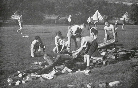 Activities at Knitsley Camp in 1950